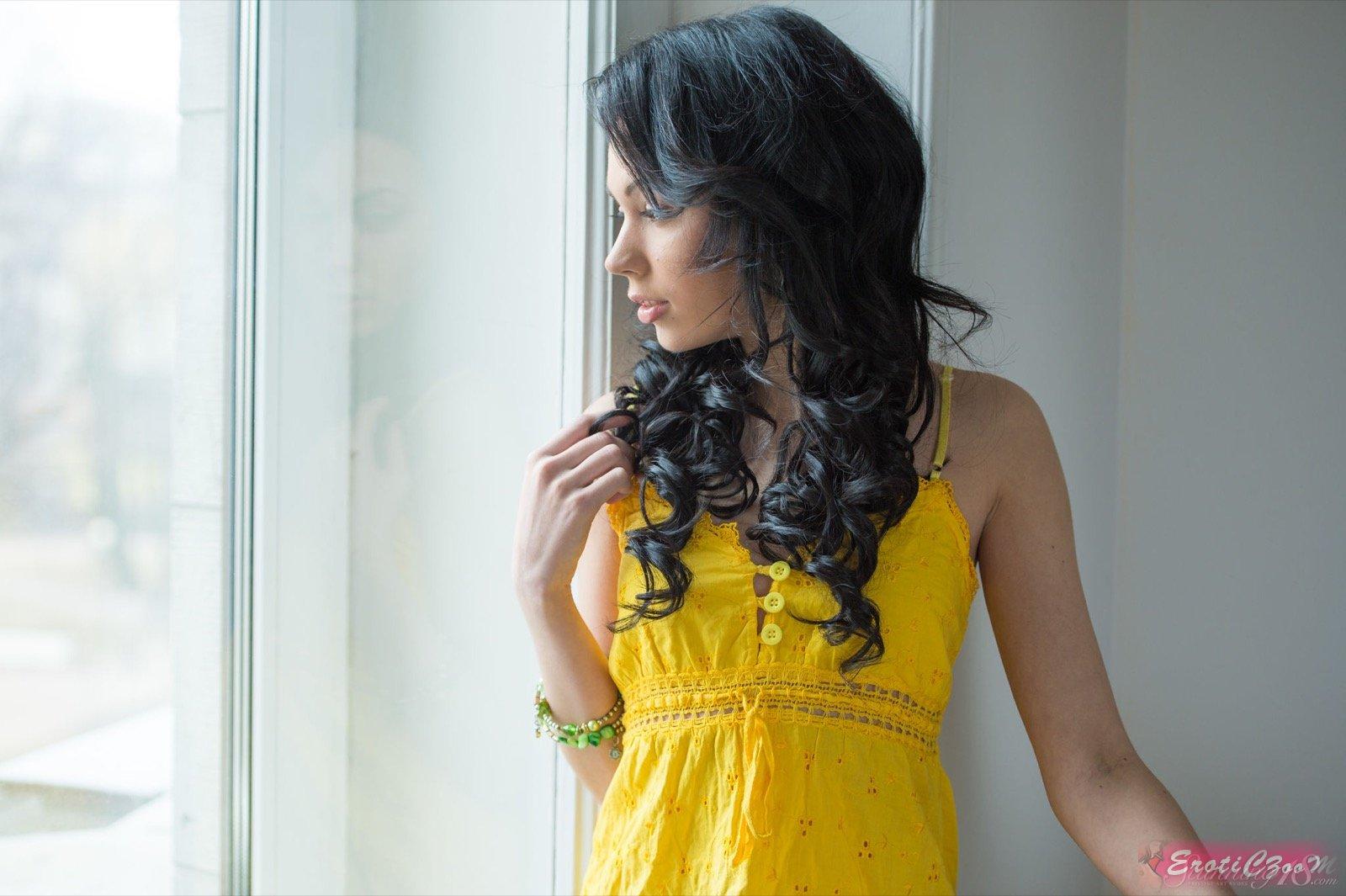 Волосатая киска раздетой брюнетки (16 фото эротики)